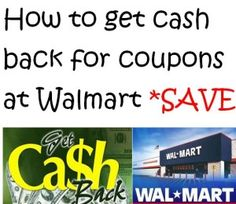 Get money back when you use coupons at Walmart - Here's the secret to how it all works! Makes sense once you read how to do it!