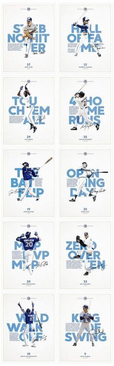 A continuing poster series celebrating iconic moments in Toronto Blue Jays Baseball franchise history. A continuing poster series celebrating iconic moments in Toronto Blue Jays Baseball franchise history. Icon Design, Graphisches Design, Flyer Design, Design Ideas, Poster Design, Graphic Design Posters, Graphic Design Inspiration, Sport Inspiration, Layout Inspiration
