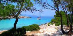 Пляж Апониссос Beautiful Agistri, Greece.