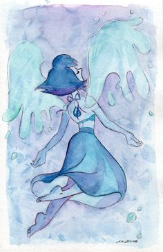 Home: Steven Universe Lapis Lazuli Original by FromMyHat on Etsy