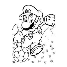 super mario soccer coloring pages - photo#1