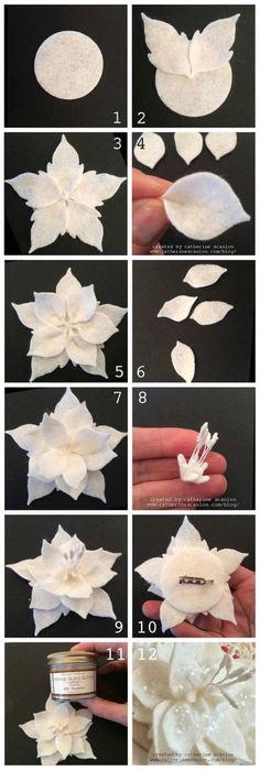 En Kolay Adımlarla Keçeden Çiçek Yapımı Örnekleri