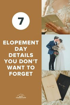 7 elopement day details you must not forget Elope Wedding, Wedding Day, Intimate Weddings, You Must, Connection, Forget, Wedding Inspiration, Adventure, How To Plan