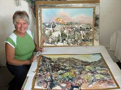 Artist Anita Steyn has a gallery and studio on the main road where she creates and sells her artwork. Anita was hands-deep in clay when I arrived, making her popular ceramic basins,