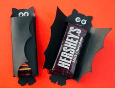 halloween, halloween crafts, craft, bat, candy car, halloween candy, halloween bat candy, bat candy bar