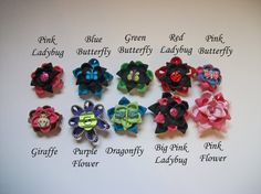 Mix and Match Children's Zipper Barrette by SiennaSews on Etsy $7 Free Shipping! 10% off with coupon code JAN2015