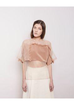 3.1 Phillip Lim blush organza short sleeved top