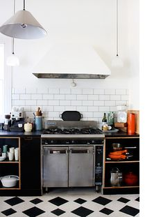 black & white kitchen floor | the design files