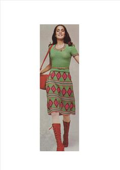 Diamond Granny Squares Retro Skirt and Top: PDF PATTERN