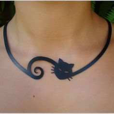 Cat necklace.