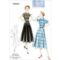 Misses Dress and Belt Vogue Pattern 9000.