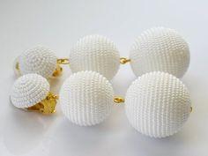 Items similar to Beads earrings. One ball earrings. on Etsy Beaded Tassel Earrings, Coral Earrings, Beaded Earrings, Earrings Handmade, Handmade Jewelry, Handmade Beads, Blue Chalcedony, Screw Back Earrings, Beautiful Earrings