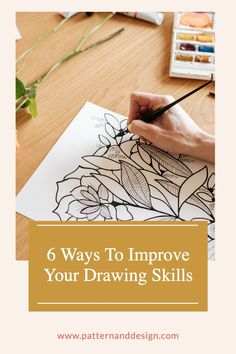 Learn a few simple and easy tricks that you can use to improve your drawing skills that will help you when you're creating your pattern repeats for your textile design or surface pattern design business. You can practice your drawing skills step by step in your sketchbook with these 6 tricks. Pattern Design Drawing, Surface Pattern Design, Kids Patterns, Floral Patterns, Blind Contour Drawing, Easy Tricks, Creative Class, Drawing Skills, Inspiration For Kids