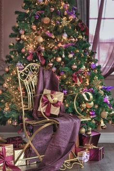 17 fabulous ideas for a beautiful christmas tree what others are saying gold and purple themed christmas decorations - Purple And Gold Christmas Decorations