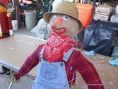 Learn how to build a scarecrow and then put it on your front porch. Fun project to do with your children or grandkids.