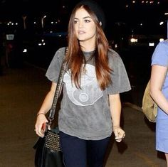 Lucy Hale and our Yin & Yang tee!