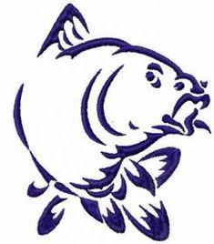 tribal fish free embroidery design. Machine embroidery design. www.embroideres.com