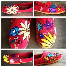 Hand painted shoes by Sam :)