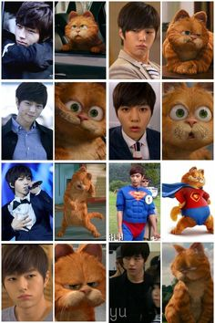 Myungsoo vs Garfield ... I see no difference ㅋㅋ So cute