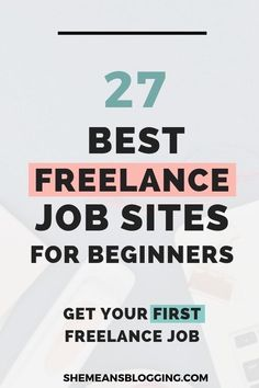 Do you want a freelance job to make extra money this year? Try these 27 freelance job sites to land your first best paying job. Earn Money Online, Online Jobs, Make Money Blogging, How To Make Money, Job Freelance, Freelance Writing Jobs, Freelance Sites, Freelance Graphic Design, How To Start A Blog
