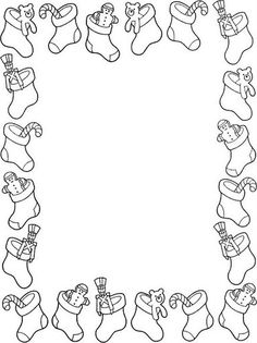 Christmas Border Coloring Pages Luxury Borders Christmas Border, Christmas Colors, Christmas Art, Christmas Stocking, Colouring Pages, Coloring Pages For Kids, Coloring Books, Christmas Crafts, Christmas Decorations