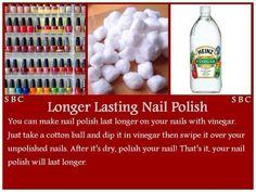 Makes nail polish last longer