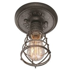 Troy Lighting Conduit 1-light Ceiling Flush - Overstock™ Shopping - Big Discounts on Troy Lighting Flush Mounts