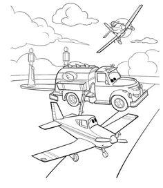 Disney Planes Coloring Page