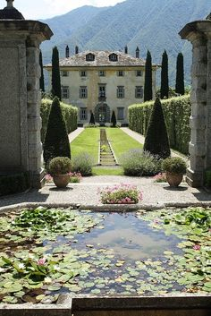 Lecco - Villa Balbiano by Paul & Elizabeth, Lombardy region Italy Italian Garden, Italian Villa, Places To Travel, Places To See, Places Around The World, Around The Worlds, Beautiful World, Beautiful Places, Beautiful Pictures