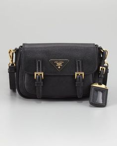 5cd86d29f7c6f9 Double-Buckle Hunting Bag by Prada at Neiman Marcus. Hunting Bags, Prada  Saffiano
