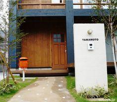 外構施工例 House Entrance, Entrance Doors, Exterior Design, Interior And Exterior, Sweden House, Door Entryway, House Built, Japanese House, Love Home