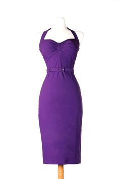Fitted Sleeveless Wiggle dress in Dark Purple Bengaline with Adjustable Halter Wiggle Dress, Dark Purple, Formal Dresses, My Style, Fashion, Formal Gowns, Moda, Fashion Styles, Formal Dress