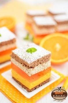 Sweet Desserts, Sweet Recipes, Delicious Desserts, Cake Recipes, Dessert Recipes, Yummy Food, Low Calorie Breakfast, Polish Recipes, Homemade Cakes