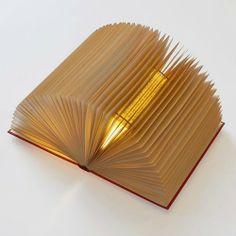 • LETTURE LUMINOSE / Se apri un libro l'illuminazione... viene da sé.      [Book Lamps byMICHAEL BOM and ANTOINET DEURLOO]