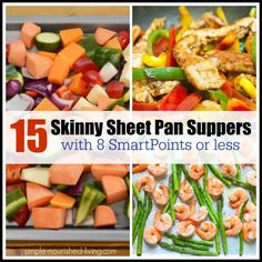 15 easy Skinny sheet pan recipes for Weight Watchers with 8 SmartPoints or Less, Chicken, fish, vegetables, photos, videos, simple, healthy, delicious