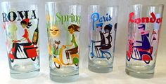 Image of Assorted International 15 oz. Tall Cocktail Glass Set of 4
