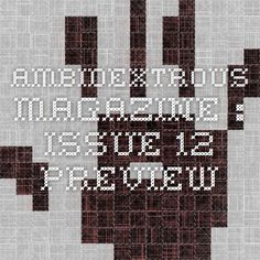 Ambidextrous Magazine : Issue 12 Preview