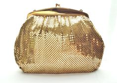 Gold Whiting and Davis Metal Mesh Purse Gift by TheGoodTimeShop