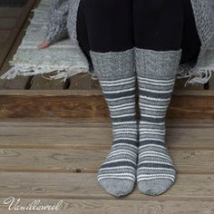 This sock design was inspired by vintage French style ticking fabrics, which I love. Crochet Socks, Knitting Socks, Knit Crochet, Knit Socks, Ticking Fabric, Sexy Socks, Stocking Tights, Designer Socks, Sock Shoes