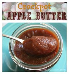You will love this easy crockpot apple butter recipe. You can leave it overnight to cook, and wake up with the homey smell of apple butter! made and it turned out delicious! Apple Recipes, Fall Recipes, Slow Cooker Recipes, Crockpot Recipes, Crockpot Apple Butter, Healthy Recipes, Crock Pot Cooking, Canning Recipes, Food To Make