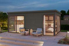 Πιστοποιημένη ξυλεία Για όλα τα ξύλινα σπίτια χρησιμοποιείται μόνο επιλεγμένο σκανδιναβικό ξύλο. Το σκανδιναβικό ξύλο, με τις ευέλικτες ιδιότητές του, είναι ιδανικό για χρήση σε κατασκευές. Το ξύλο είναι βιώσιμη και ανανεώσιμη πρώτη ύλη. Για την οικολογική και υπεύθυνη παραγωγή ξυλείας, η διαχείριση των πρώτων υλών μας προμηθεύει ξύλο πιστοποιημένο με FSC® . Prefab Tiny House Kit, Small House Kits, Best Tiny House, Modern Tiny House, Tiny House On Wheels, Tiny Houses, Kit Homes, Ikea, Backyard Office