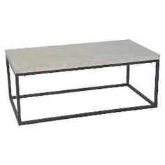 Threshold™ Mixed Metal Coffee Table - White