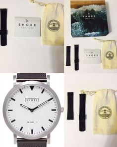 Details About Shore Projects Poole New Unisex Project 1 Black Mesh Leather Strap Watch 39mm