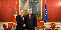 بارزاني يبحث مع رئيس النمسا الاوضاع العراقية