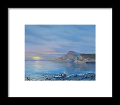 Awaiting For New Day Framed Print by Elena Antakova Art Prints For Home, Home Art, Original Paintings For Sale, Before Sunrise, Blue Hour, Painting Art, New Day, Serenity, Framed Prints
