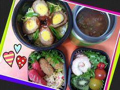 Twitter from @mayqoo0116 http://p.twipple.jp/DmMk7  おはよー!(^-^)/今日は…スコッチエッグの #お弁当 ~♪ 雪積もらなくて良かった!!今日もFighting~!!o(^o^)o #obento #obentoart