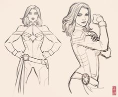 drawings marvel captain easy drawing avengers jen pencil sketches bartel america artwork carol
