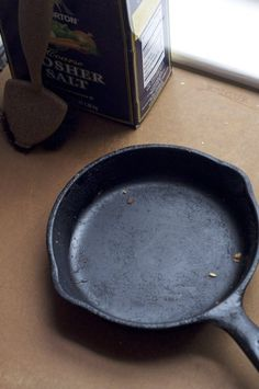 clean the skillet immediate after use  while it is still hot or warm  avoid soaking the pan or leaving it in the sink or it may rust