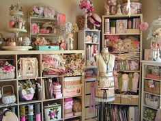 """Love love love!!!  Even if i didn't have time to use any of the supplies- I would just spend some time in this room """"looking"""" at it all...! Gorgeous!"""