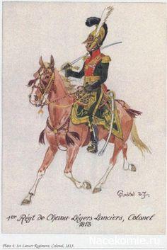 1er régt de cheveaux légers Lanciers Colonel 1813